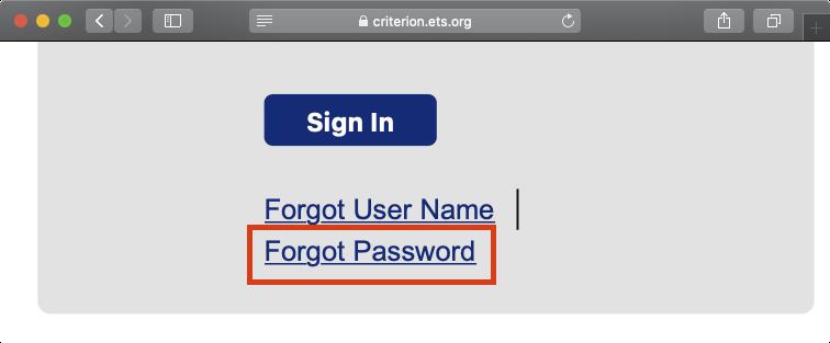 Forgot Password機能