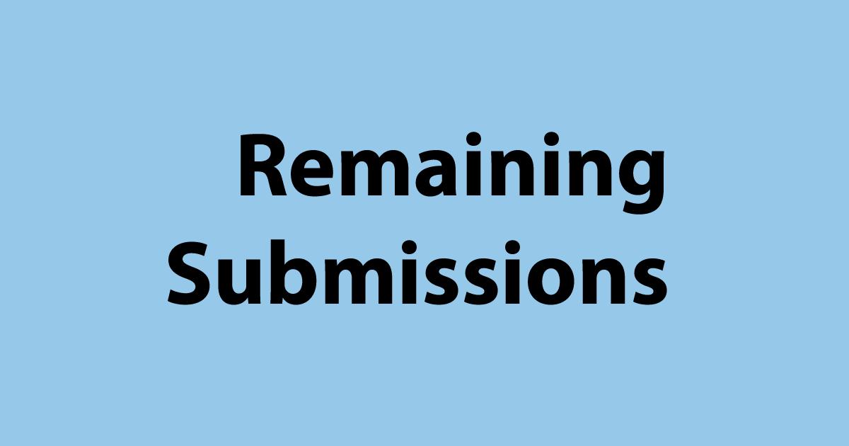 提出(Submission)の残回数を確認する方法