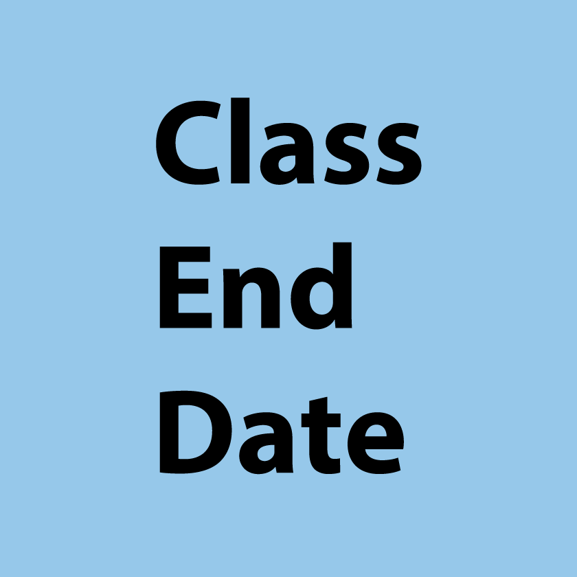 Class End Dateについて