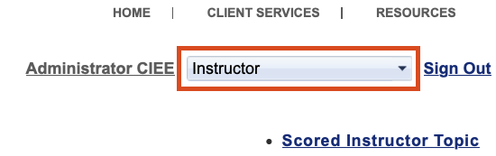 AdministratorがAccess Codeを使って自分をClassのInstructorとして登録する